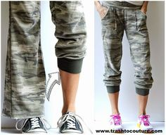 Refashioned Track Pants