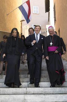 Maxima Et Willem Alexander Des Pays Bas Au Vatican, Le 22 Juin 2017 8