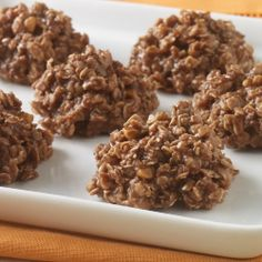 No Bake Oatmeal Cookies ... A no bake cookie recipe with oatmeal, peanut butter and cocoa made in the microwave for a quick dessert or treat with only 10 minutes of prep time.