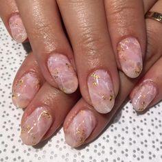 rose quartz mani.