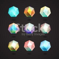 Isolated polygonal crystal royalty-free stock vector art