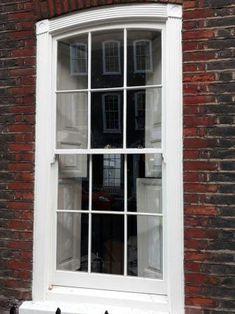 Georgian style sliding box sash window with internal shutters Timber Windows, Sash Windows, Window Seats, Georgian, Shutters, Dressings, Box, Style, Blinds