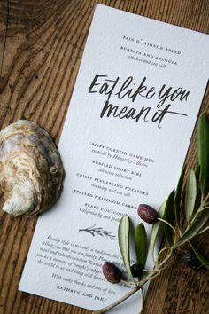 Modern Calligraphy Fabric Wedding Invitations by Bash Studio and Smudge Ink / Brush Lettering by Chelsea Petaja / Oh So Beautiful Paper