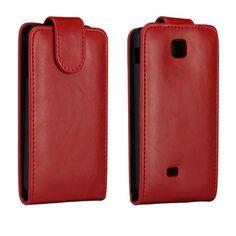 Wall Street (Rød) LG Optimus F5 Lær Flipp Etui