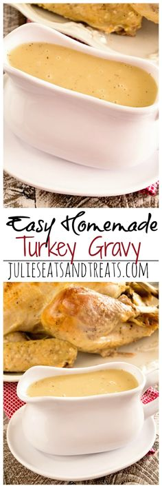 Easy Homemade Gravy Recipe ~ Delicious Homemade Turkey Gravy that Anyone Can Make! ~ https://www.julieseatsandtreats.com