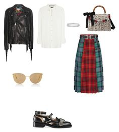 """""""Untitled #3690"""" by anamaria-zgimbau ❤ liked on Polyvore featuring Gucci, Mykita, Topshop and Anne Sisteron"""