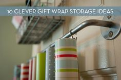 Roundup: 10 Genius Gift Wrap Storage Solutions   Curbly