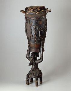 Ivory Coast - Senufo Ceremonial Drum (Art Institute of Chicago) ca 1930-50