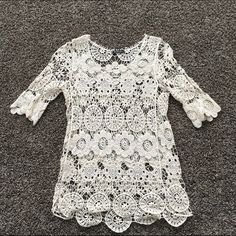 Crochet top One size fits most. From a cute boutique Tops Blouses