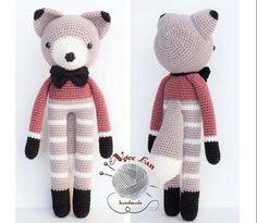 Chart móc cáo chân dài Fabian Newborn Toys, Baby Toys, Baby Accessories, Free Crochet, Charts, Diy And Crafts, Crochet Patterns, Teddy Bear, Handmade