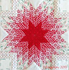 """This would make a gorgeous full-sized star quilt IF i could find another way to make it other than English Paper Piecing.foundation piecing would be much lad """"insane""""! Block Nearly Insane Quilt Fabadashery Lone Star Quilt, Star Quilts, Mini Quilts, Quilt Blocks, Star Blocks, Baby Quilts, Quilting Tutorials, Quilting Projects, Quilting Designs"""