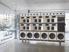 Tom Sachs pumps up the volume with a celebration of the classic hip-hop boombox... http://www.we-heart.com/2015/02/27/tom-sachs-boombox-retrospective-contemporary-austin/