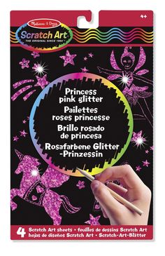 Melissa & Doug - 15810 - Kit De Loisirs Créatifs - Feuilles De Dessins Scratch Art - Paillettes Roses Princesse: Amazon.fr: Jeux et Jouets