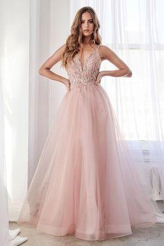 Pretty Prom Dresses, Grad Dresses, Beautiful Dresses, Evening Dresses, Blush Prom Dress, Prom Dresses Light Pink, Pastel Prom Dress, Sparkly Gowns, Cinderella Prom Dresses