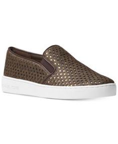 f90189f7131e Michael Kors Keaton Star-Perforated Slip-On Sneakers