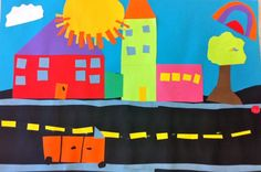 This is another cut paper art activity. This time the 6th grade students used colored construction paper to create a streetscape. I love som...