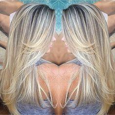 #mechas #loiras #blonde #blondelights #beauty #beleza #beautiful #highlights #platinadas #chic #cool - salaodoale