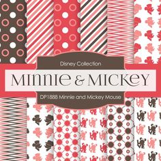 Minnie and Mickey Mouse Digital Paper DP1888