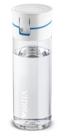 Brita Fill and Go Water Filter Travel Bottle with 4 Filter Disc Refill Blue Agua Mineral, Mineral Water, Filtered Water Bottle, Water Bottles, Filter Bottle, Vacuum Cup, Id Design, Water Bottle Design, Ideas