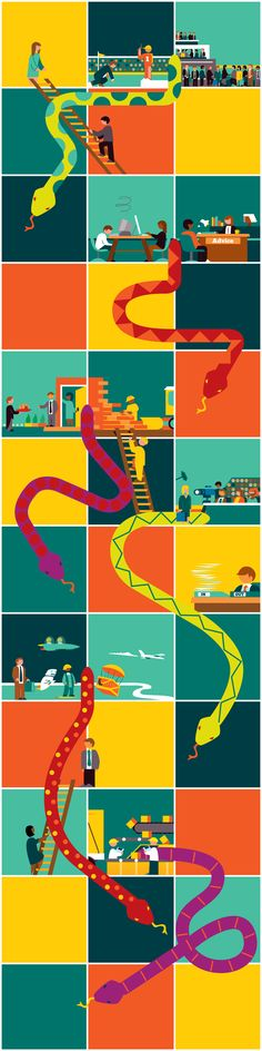 Editorial Illustration for RBS/Natwest by Ben O'Brien, via Behance