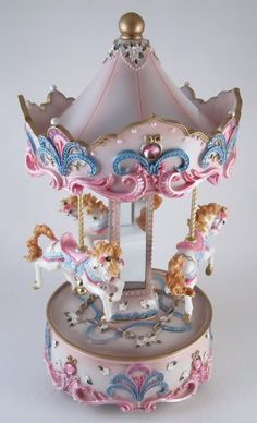 Collectable Decorative Horse Musical Carousel