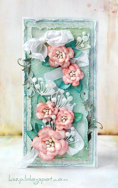 Klaudia / Kszp flowers collage style card