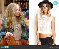 Maya's Led Zeppelin top on Girl Meets World.  Outfit Details: http://wornontv.net/52944/ #GirlMeetsWorld