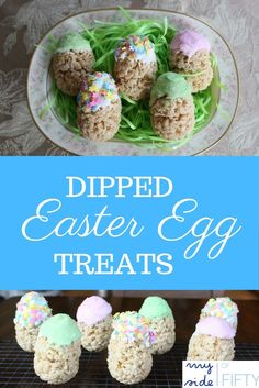 Dipped Easter Egg Treats from momluck.com. Delicious, easy Easter treat to make with kids! This is the story of me making these with my grandkids