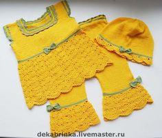 """Одежда для девочек, ручной работы. Ярмарка Мастеров - ручная работа Вязаный комплект для девочки """"Маруся"""".. Handmade."""