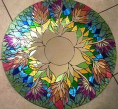 """Mosaic Mirror. by zelma"" ...this is my one artistic weakness... I will fall for any stained glass piece... but, this one is beautiful..."