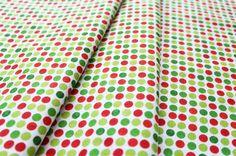 A.E. Nathan Holiday Prints 3655 Holiday Novelties Christmas Dots White