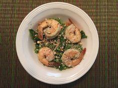 Shrimp & Pesto Rice Salad