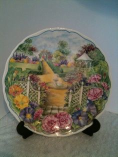 Royal Albert collectors plate Secret Garden The Fountain