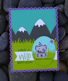 Instagram: @amypeach1978 Blog: www.embellishedsimplicityrenewed.blogspot.com Supplies (all by Lawn Fawn, unless otherwise noted): Wild For You stamps and dies Grassy Border die Stitched Mountain Borders die Small Stitched Rectangle Stackables die Magic Color Slider die (oval) Stitched Trails die Everyday Sentiment Banners die Simple grassy Hillside Borders die Jalepeno ink Fancy Scalloped Rectangle Stackables Sugarplum, Cilantro, Storm Cloud, Mermaid, and Peacock card stock Other: Neenah…