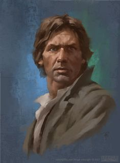 "Han Solo - ArtStation - Star Wars Portraits - ""On the Front Lines"" Aaron J Riley Star Wars Canon, Rey Star Wars, Star Wars Fan Art, Han Solo And Chewbacca, Han And Leia, Saga, Star Wars Painting, Star Wars Tattoo, Star Wars Wallpaper"