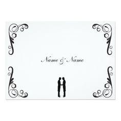 Gay Wedding Invitation - Groom and Groom