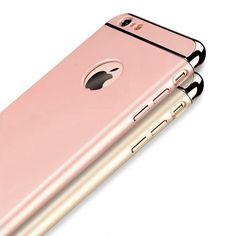 Pour iphone 7 plus Cas Rose Or De Luxe D'origine Retour Cas pour Apple iphone 6 s 6 Plus 5 5S SE Dur Armure 3in1 Couverture Logo Noir
