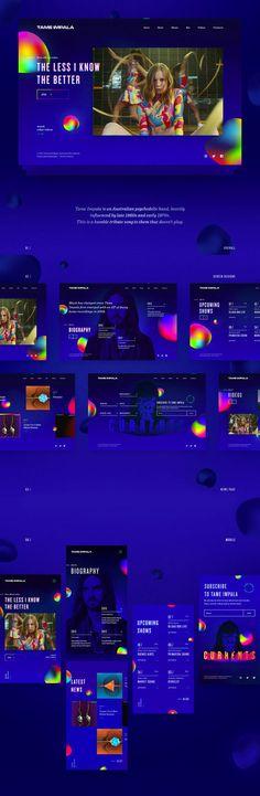 Tame-Impala #ui #ux#userexperience #website #webdesign #design