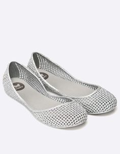 Balerini cauciuc cu aspect metalizat argintii si gaurele Mary Janes, Flats, Sneakers, Casual, Shoes, Fashion, Elegant, Loafers & Slip Ons, Trainers