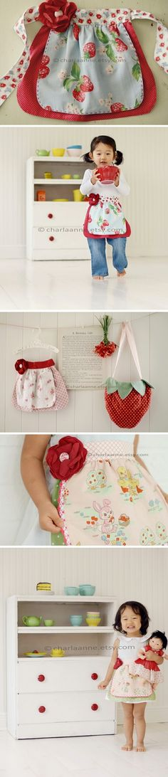 pretty aprons for girls by Trene