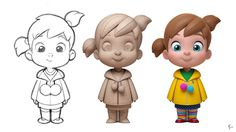 Character model based on a design by Anderson Mahansky… 3d Model Character, Kid Character, Character Modeling, Character Drawing, Character Illustration, Character Concept, 3d Modeling, Cute Characters, Cartoon Characters