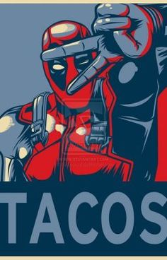 Deadpool for President: he will eat all the tacos! And chimichangas! Maybe he'll share with us?>>> It's Deadpool. Archie Comics, Marvel Dc Comics, Films Marvel, Heros Comics, Bd Comics, Marvel Vs, Marvel Heroes, Spawn Comics, Dead Pool