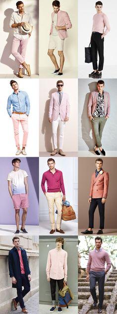 men pink fashion