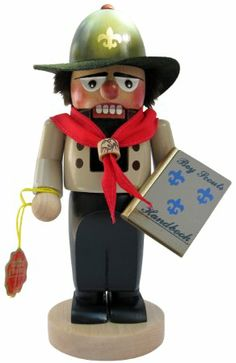 Steinbach Chubby Boy Scout Nutcracker.  Hand Turned, Handpainted, Handcarved in Germany. Collectable.
