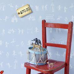 Utterly Enchanting Animal Parade Nursery Wallpaper from Hibou Home