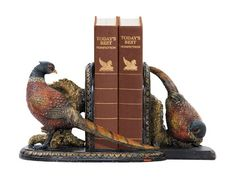 Sterling Home 91-3722 Pair of Bookends, Autumn Pheasants, 6-1/4-Inch Tall -- Remarkable product available now. : Home Decorative Accessories