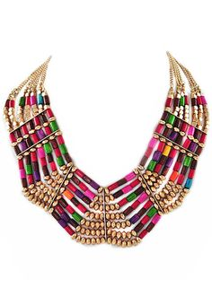 Multi Color Cleopatra Collar Necklace – Modeets.com