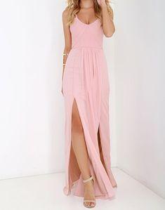 Charming Prom Dress,Pink Chiffon Evening Dress,Sexy Prom Dresses by fancygirldress, $135.00 USD