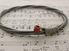 Recycled Bass Guitar String Bracelet-Brilliant, must make at some point