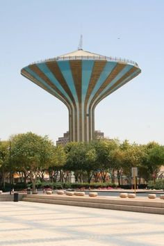 Riyadh Water Tower, Saudi Arabia- I lived across the street from this water tower in 1977. At the time it was the tallest structure in Riyadh.